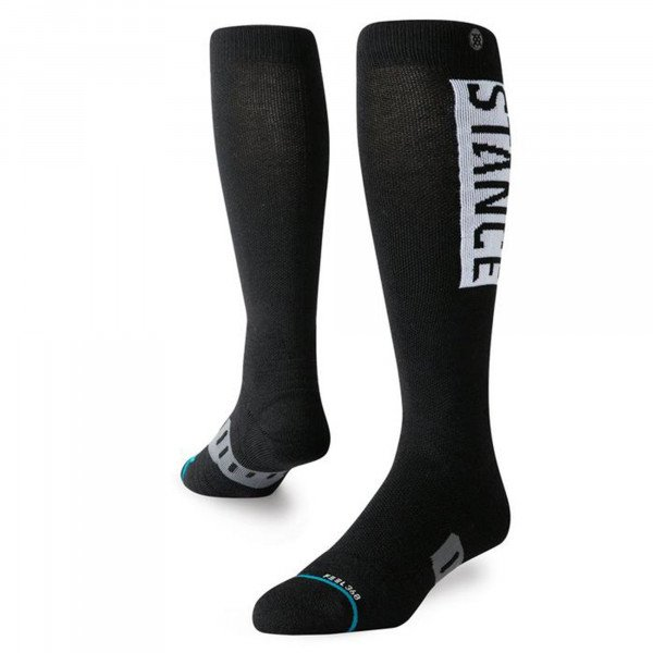 STANCE ZEĶES SNOW OG WOOL BLACK