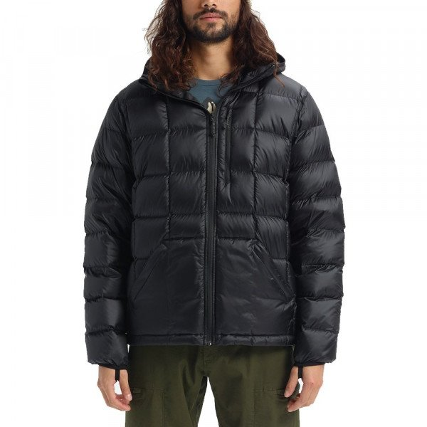 BURTON JAKA M EVERGREEN HOODED DOWN INS TRUE BLACK W19