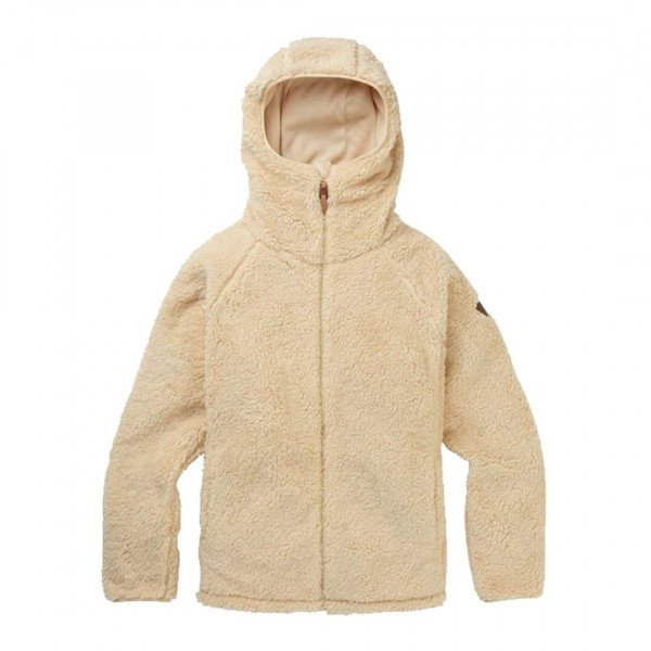 BURTON ZIP-HOOD W LYNX FLEECE FULL ZIP CREME BRULEE W19