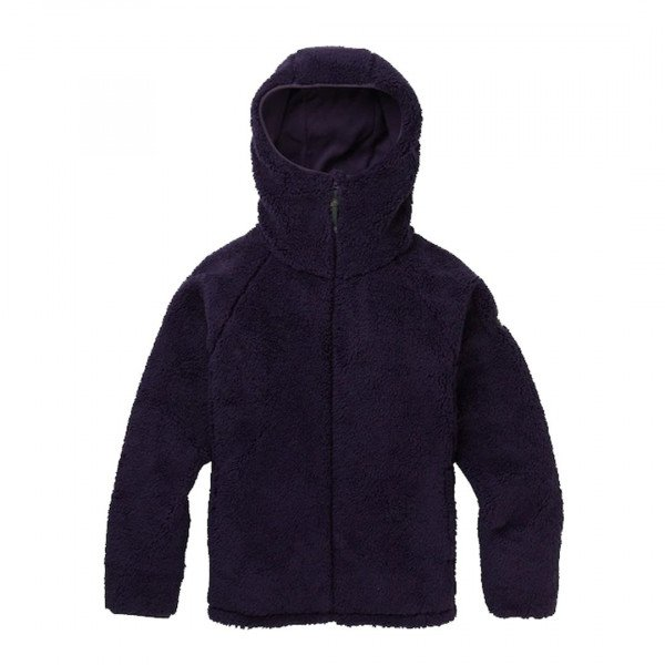 BURTON ZIP-HOOD W LYNX FLEECE FULL ZIP PURPLE VELVET W19