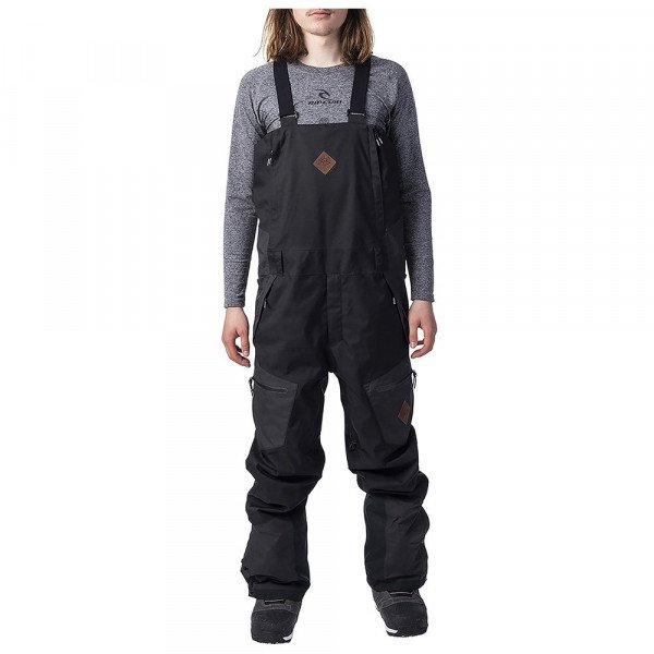RIP CURL SNOW PANTS SEARCH BIB JET BLACK W19