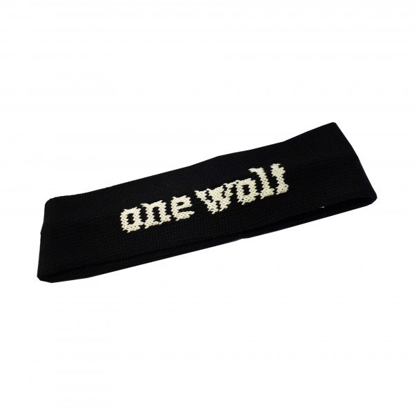 ONE WOLF HEADBAND BLACK