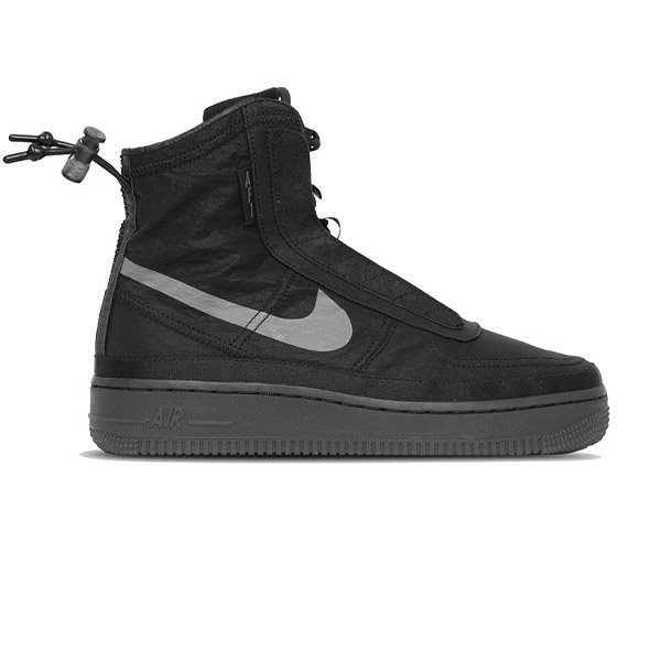 NIKE SHOES AF1 SHELL W BLACK DARK GREY H19