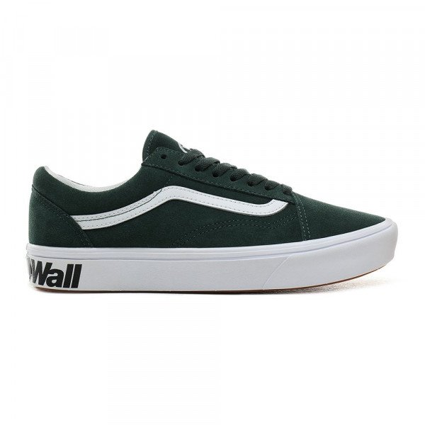VANS APAVI COMFYCUSH OLD SKOOL (DISTORT) TREKKING GREEN TRUE WHITE F19