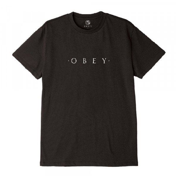 OBEY T-SHIRT NOVEL OBEY BLK H19