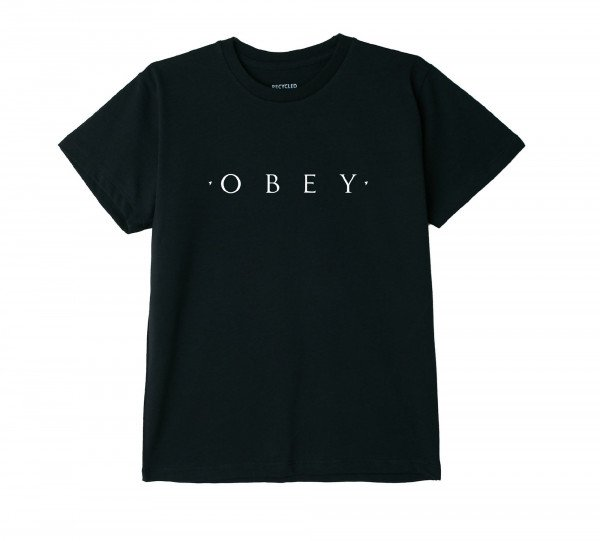 OBEY T-SHIRT NOVEL OBEY W BLK H19