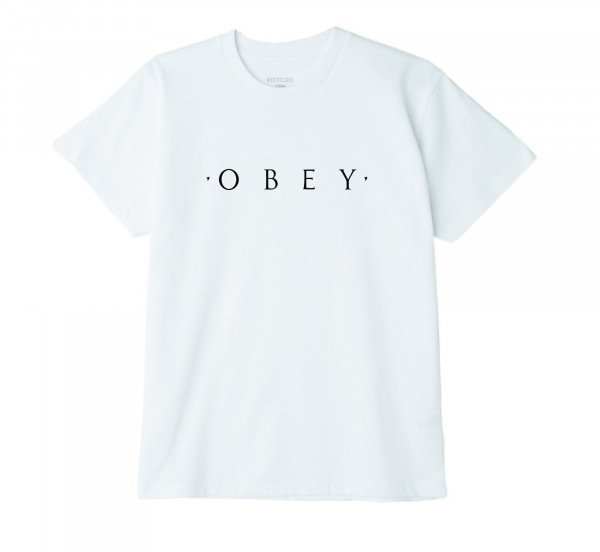 OBEY T-SHIRT NOVEL OBEY W WHT H19