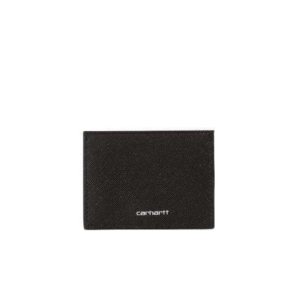 CARHARTT WIP MAKS COATED CARD HOLDER BLACK WHITE