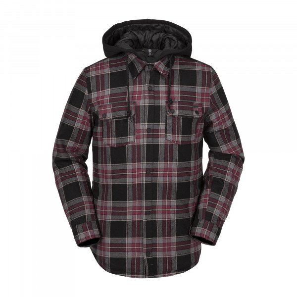 VOLCOM FIELD INS. FLANNEL RED W19