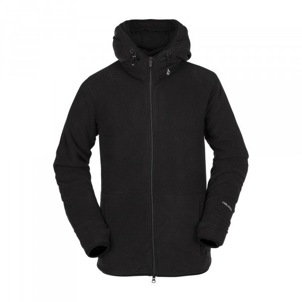 VOLCOM ZIP-HOOD POLARTEC FLEECE BLK W19