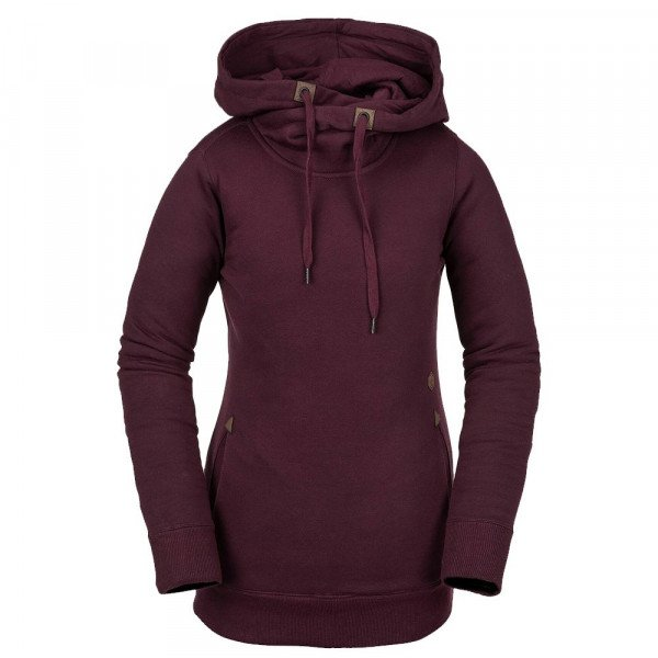 VOLCOM HOOD TOWER P/OVER FLEECE MER W19