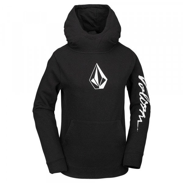 VOLCOM HOOD HOTLAPPER FLEECE KIDS BLK W19