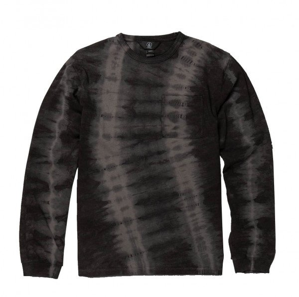 VOLCOM LONGLSEEVE CHILL DYE L/S CREW BLK H19