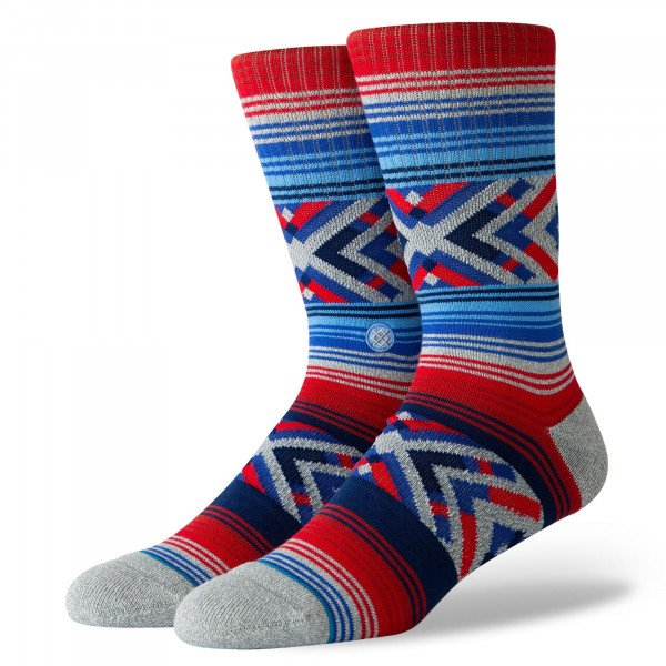 STANCE SOCKS BLUE FOUNDATION ROO HEATHER GREY