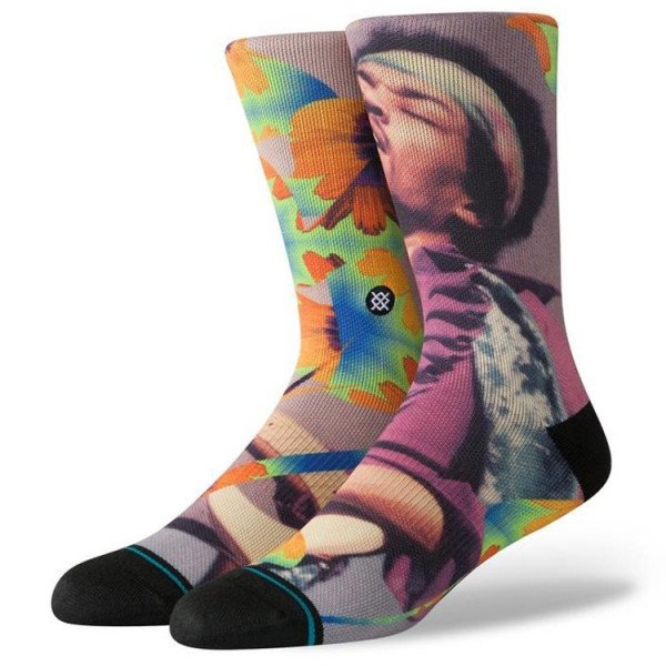 STANCE SOCKS ANTHEM JIMI FLOWERS MULTI