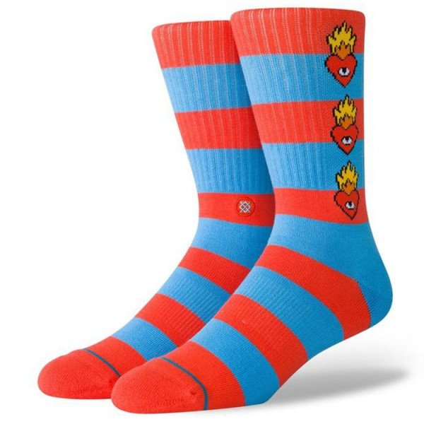 STANCE SOCKS BLUE FOUNDATION HEARTLESS MULTI