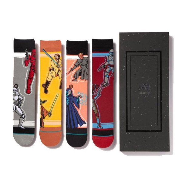 STANCE SOCKS BLUE FOUNDATION SW DUOS 4 PACK MULTI