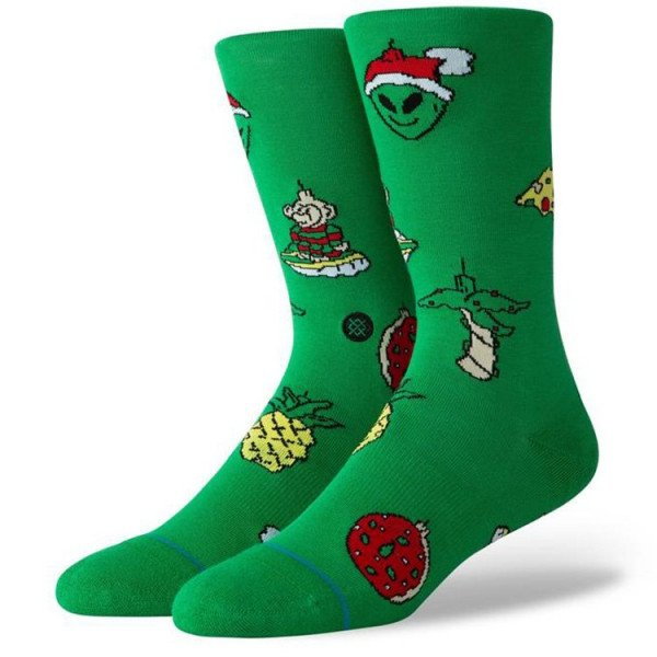 STANCE SOCKS BLUE FOUNDATION XMAS ORNAMENTS GREEN