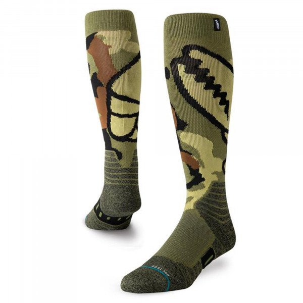 STANCE SOCKS SNOW CAMO GRAB GREEN