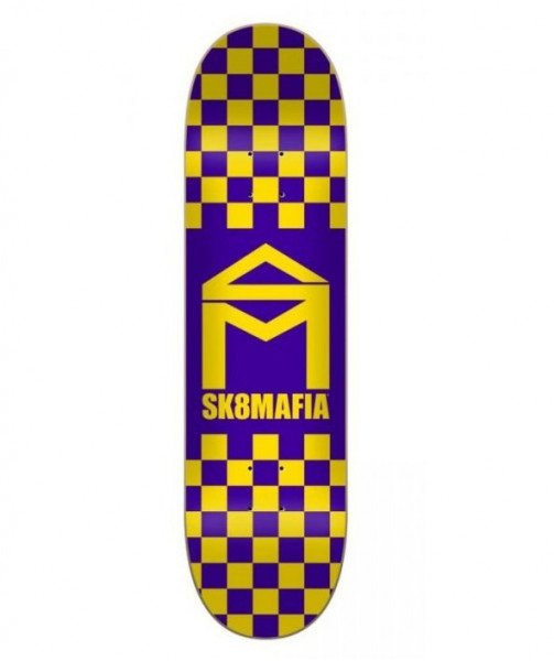 SK8MAFIA KLĀJS HOUSE LOGO CHECKER PURPLE 8.1 DECK