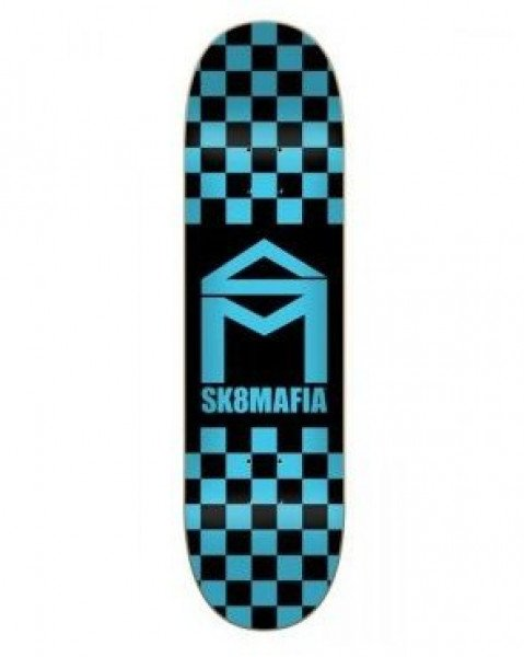 SK8MAFIA KLĀJS HOUSE LOGO CHECKER BLUE 8.3 DECK