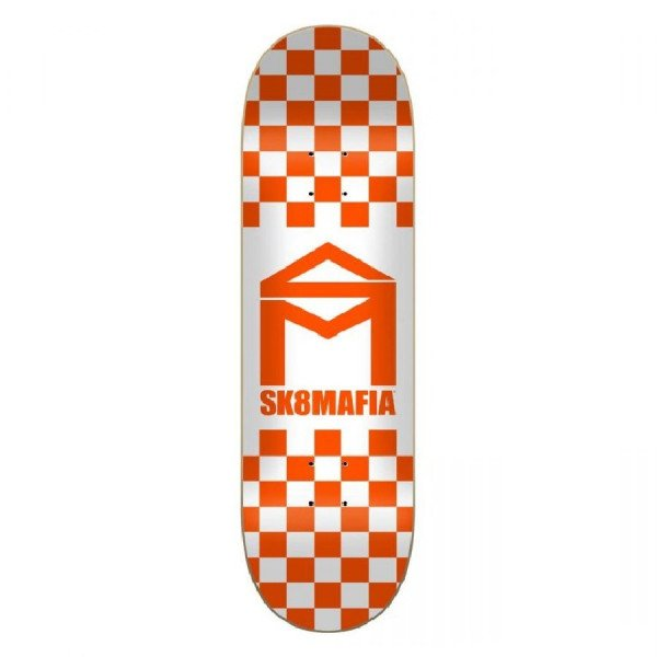 SK8MAFIA KLĀJS HOUSE LOGO CHECKER ORANGE 8.5 DECK