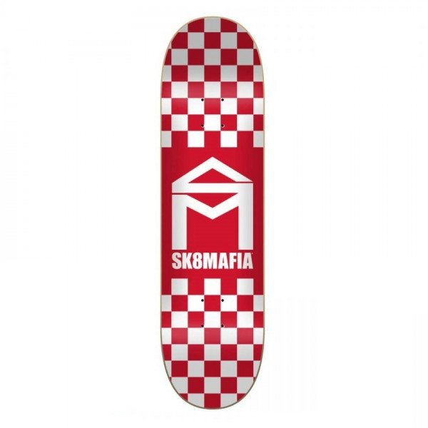 SK8MAFIA KLĀJS HOUSE LOGO CHECKER RED 8.25 DECK