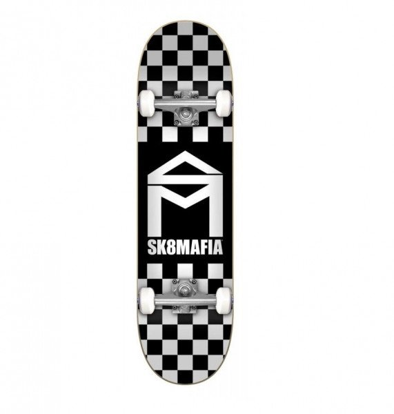 SK8MAFIA COMPLETE HOUSE LOGO CHECKER BLACK 7.87