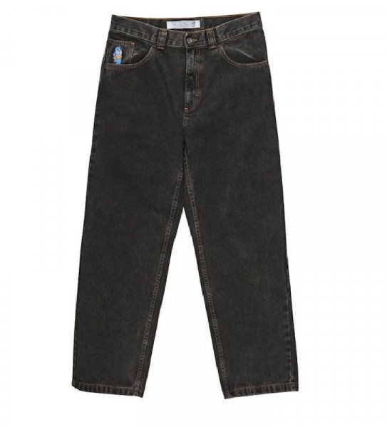 POLAR DŽINSI 93 DENIM WASHED BLACK H19