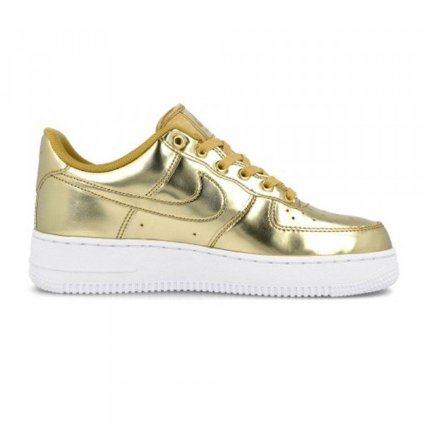 NIKE APAVI AIR FORCE 1 SP W METALLIC GOLD H19