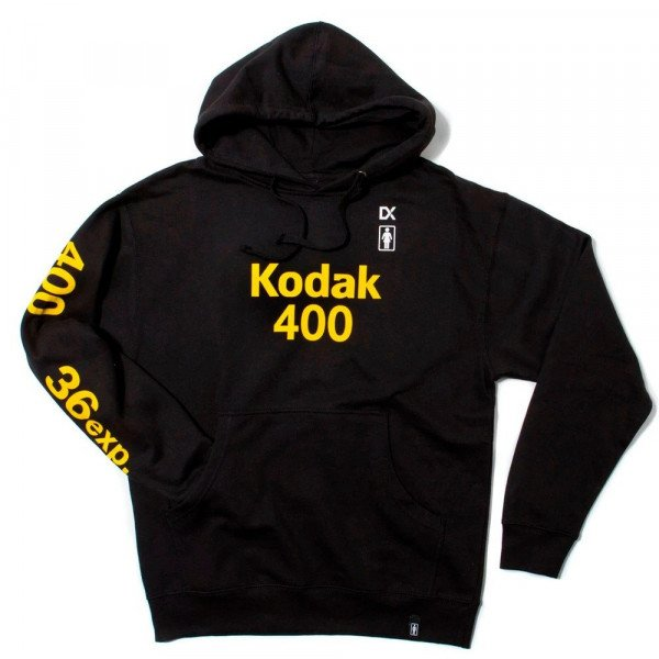 GIRL HOOD KODAK 400 PULLOVER FLEECE BLACK H19