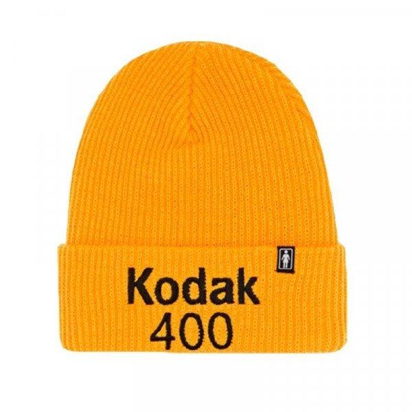GIRL KODAK GOLD 400 CUFF BEANIE GOLD H19