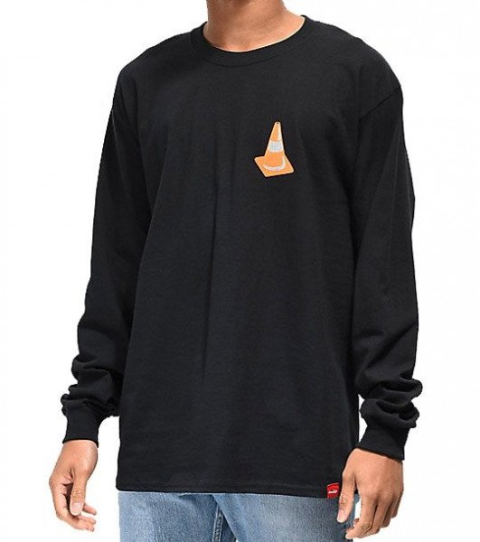 CHOCOLATE LONGLSEEVE SAFETY CONE L/S TEE BLACK H19