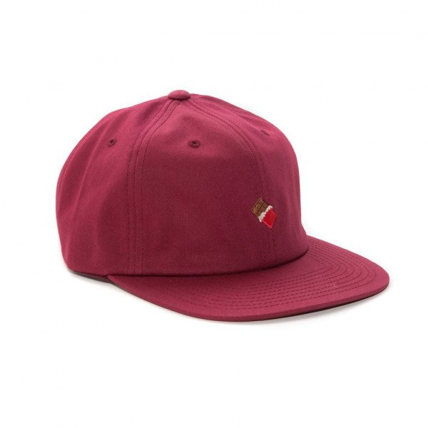 CHOCOLATE CEPURE EMOJI HAT BURGUNDY H19