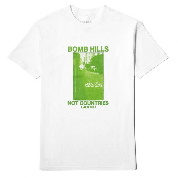 GX1000 T-SHIRT BOMB HILLS NOT COUNTRIES WHITE H19