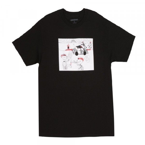 GX1000 T-SHIRT FUCK PIZZA BLACK H19