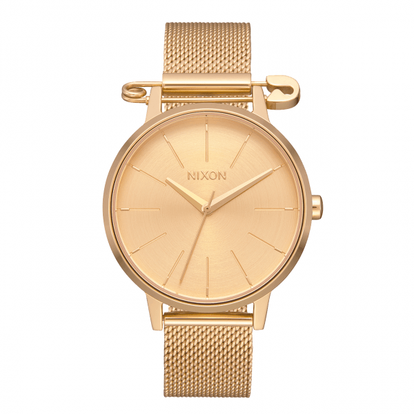 NIXON PULKSTENIS KENSINGTON MILANESE GOLD SAFETY