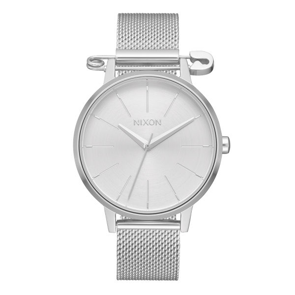 NIXON WATCH KENSINGTON MILANESE SILVER SAFETY