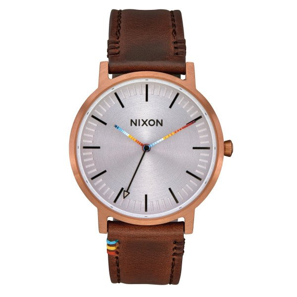 NIXON WATCH PORTER LEATHER COPPER BROWN SERAPE