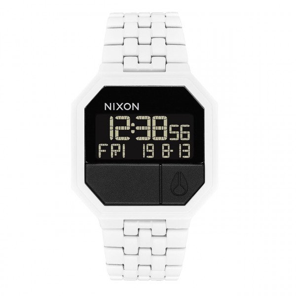 NIXON PULKSTENIS RE-RUN ALL WHITE