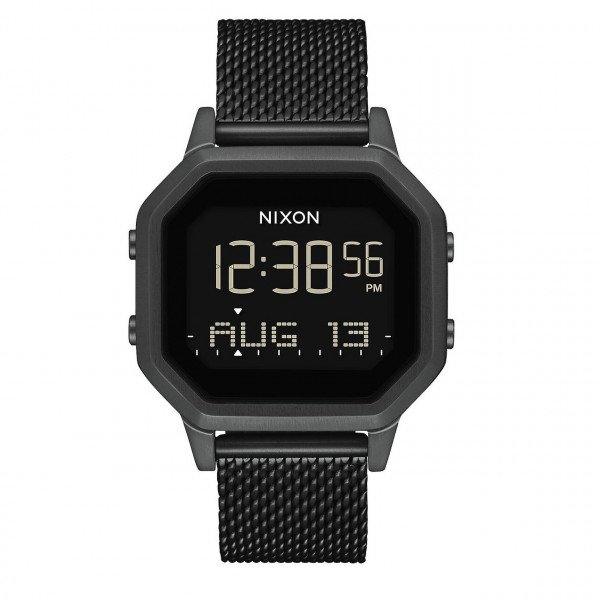 NIXON WATCH SIREN MILANESE ALL BLACK