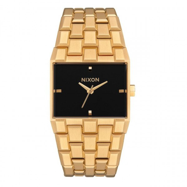 NIXON PULKSTENIS TICKET ALL GOLD BLACK