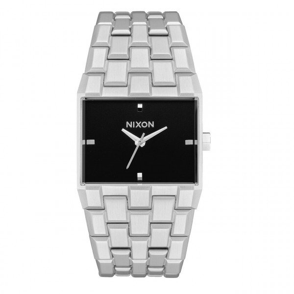 NIXON WATCH TICKET SILVER BLACK
