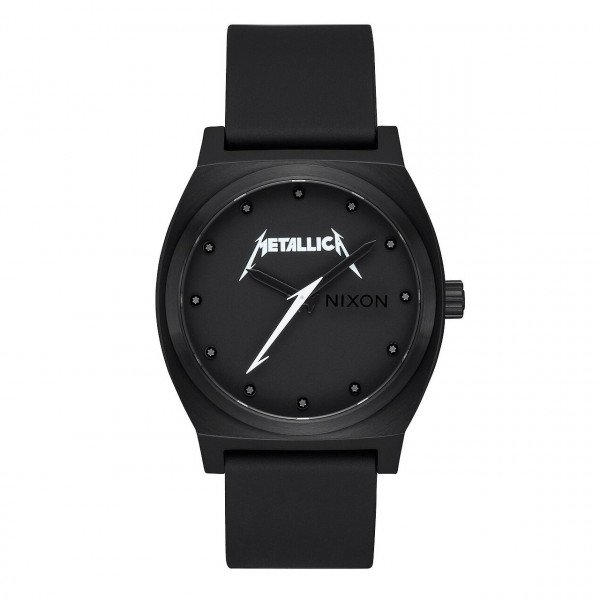 NIXON PULKSTENIS TIME TELLER ALL BLACK METALLICA
