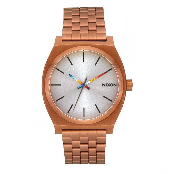 NIXON WATCH TIME TELLER COPPER SERAPE