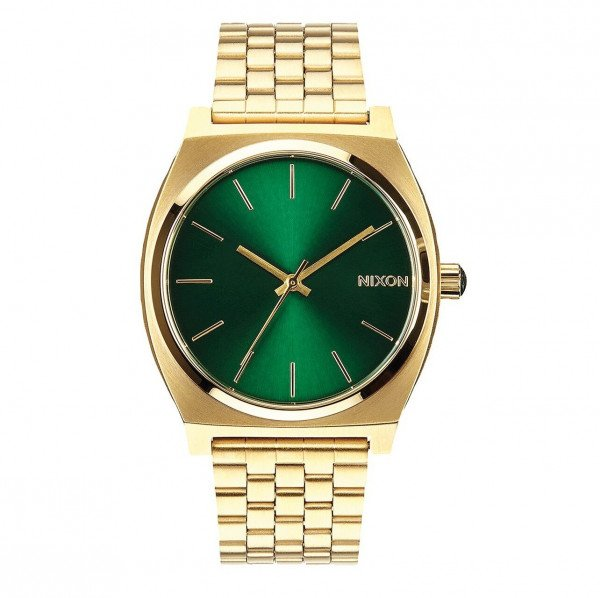 NIXON PULKSTENIS TIME TELLER GOLD GREEN SUNRAY