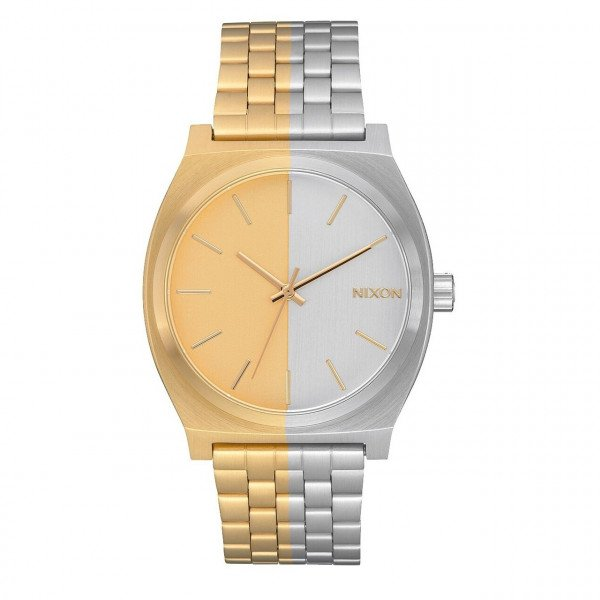 NIXON WATCH TIME TELLER GOLD SPLIT