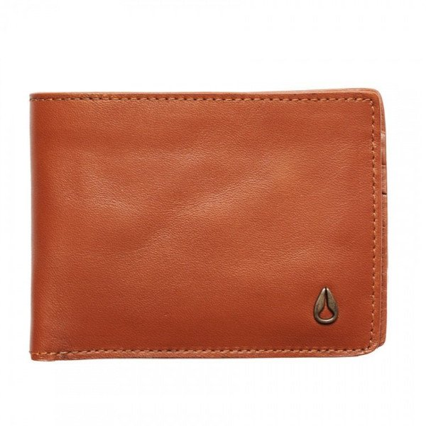 NIXON WALLET CAPE LEATHER SLIM SADDLE