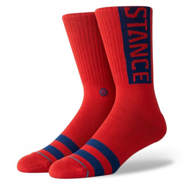 STANCE SOCKS UNCOMMON SOLIDS OG DAHLIA RED