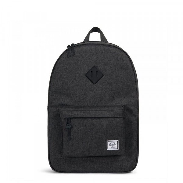 HERSCHEL SOMA HERITAGE POLY BLACK CROSSHATCH BLACK